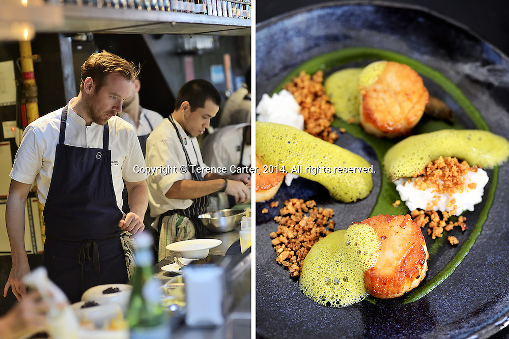 Chef Andrew Walsh at Esquina, Singapore. Copyright 2014 Terence Carter / Grantourismo. All Rights Reserved.