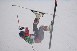 February 23, 2018 - Pyeongchang, SOUTH KOREA - 180223 India Sherret of Canada falls in the Women's Freestyle Ski Cross 1/8 Final during day fourteen of the 2018 Winter Olympics on February 23, 2018 in Pyeongchang..Photo: Carl Sandin / BILDBYRÃ…N / kod CS / 57999_318 (Credit Image: © Carl Sandin/Bildbyran via ZUMA Press)