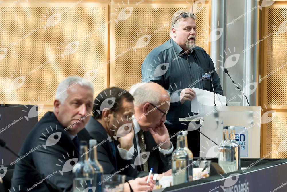 Paolo Barelli LEN president<br /> LEN 2016 Extraordinary Congress<br /> London, East Winter Garden, Canary Wharf<br /> Day 0 08-05-2016<br /> Photo Giorgio Scala/Deepbluemedia/Insidefoto