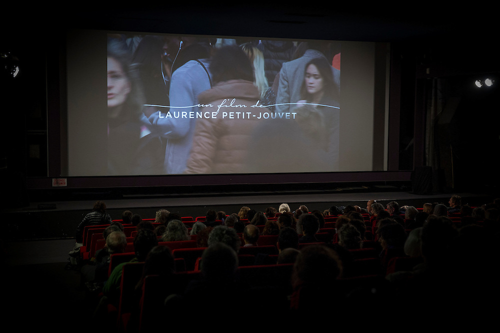 """projection de """"la ligne de couleur"""", film de Laurence Petit Jouvet. cinema Le Melies, vendredi 12 decembre 2014. montreuil (93)"""