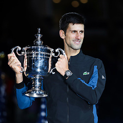 Novak Djokovic of Serbia celebrates the victory during the men's final of the 2018 US Open Tennis Championships on September 9, 2018 in New York, United States. (Photo by Marek Janikowski/Icon Sport)