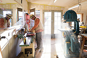 Dan Cearley woodworking in his shop