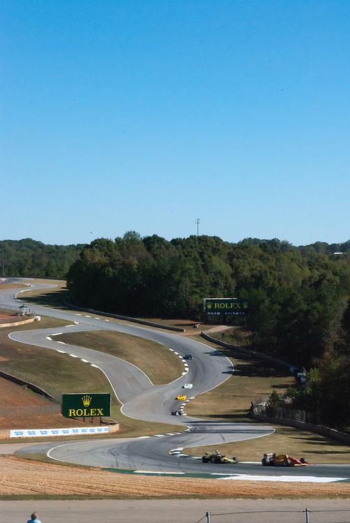 """The Esses"" During the SVRA Vintage Racing 30th anniversary, season finale. Road Atlanta Gran Prix Road Course. 14- 17 Oct. 2010 Scott LePage"