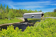 McCann or Didgeguash River #4  covered bridge (1938)<br /> St. Martins<br /> New Brunswick<br /> Canada