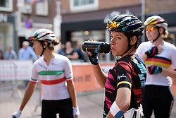Barbara Guarischi (CANYON//SRAM Racing) ahead of sign in at the 116 km Stage 5 of the Boels Ladies Tour 2016 on 3rd September 2016 in Tiel, Netherlands. (Photo by Sean Robinson/Velofocus).