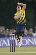 Hampshire all-rounder Ryan McLaren during the NatWest T20 Blast South Group match between Middlesex County Cricket Club and Hampshire County Cricket Club at Uxbridge Cricket Ground, Uxbridge, United Kingdom on 27 May 2016. Photo by David Vokes.