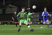 Forest Green Rovers Owen Orford(34) during the FA Youth Cup match between Forest Green Rovers and Helston Athletic at the New Lawn, Forest Green, United Kingdom on 29 October 2019.