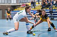 BARNEVELD - Hoofdklasse zaalhockey dames. Den Bosch-Rotterdam (1-0). Fleur van Dooren (R'dam) . COPYRIGHT KOEN SUYK