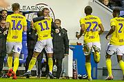 Goal Birmingham City midfielder Jérémie Bela (11) scores a goal and celebrates 1-2 during the EFL Sky Bet Championship match between Reading and Birmingham City at the Madejski Stadium, Reading, England on 7 December 2019.