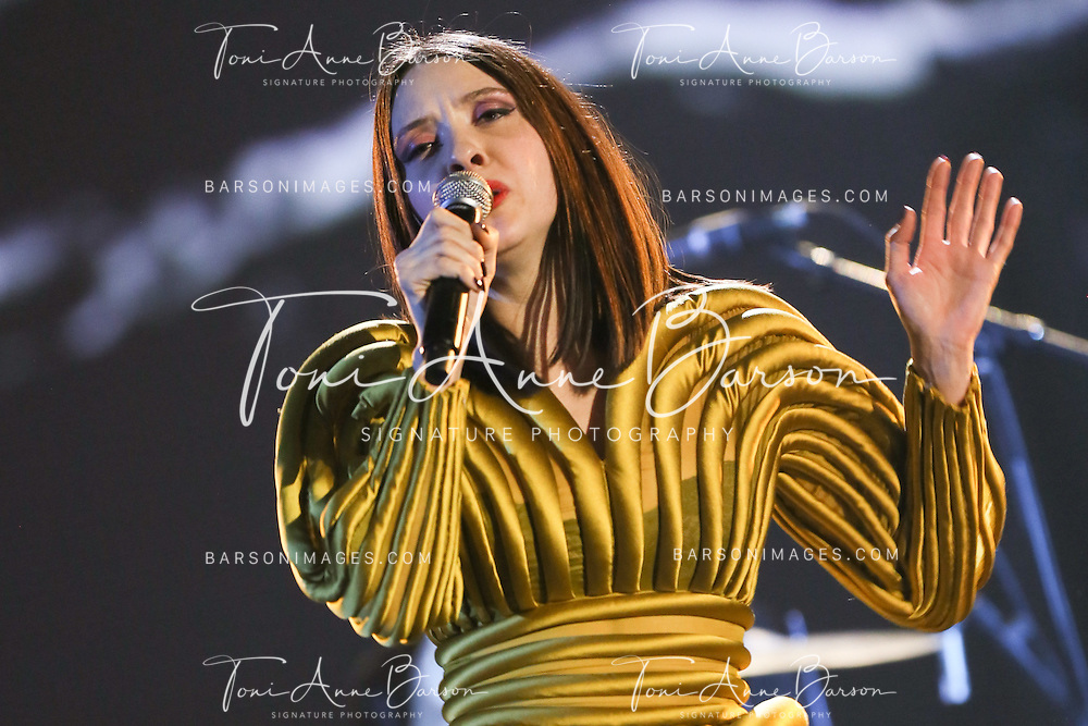 "PARIS, FRANCE - FEBRUARY 10:  Minuit (Simone Ringer and Raoul Chichin) perform during the ""32nd Victoires de la Musique 2017"" at Le Zenith on February 10, 2017 in Paris, France.  (Photo by Tony Barson/FilmMagic)"