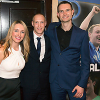 Steven Anderson Testimonial Dinner, Salutation Hotel, Perth...21.02.15<br /> Steven pictured with his testimonial sponsors Nicola and Scott Walker from Herbalife<br /> Picture by Graeme Hart.<br /> Copyright Perthshire Picture Agency<br /> Tel: 01738 623350  Mobile: 07990 594431