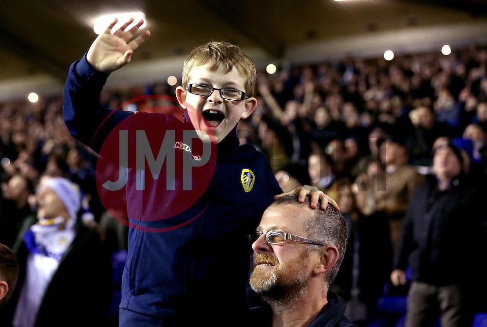 Leeds United fans celebrate the win over Birmingham City - Mandatory by-line: Robbie Stephenson/JMP - 03/03/2017 - FOOTBALL - St Andrew's Stadium - Birmingham, England - Birmingham City v Leeds United - Sky Bet Championship