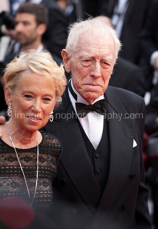 Catherine Brelet and Actor Max Von Sydow at the gala screening for the film The BFG at the 69th Cannes Film Festival, Saturday 14th May 2016, Cannes, France. Photography: Doreen Kennedy