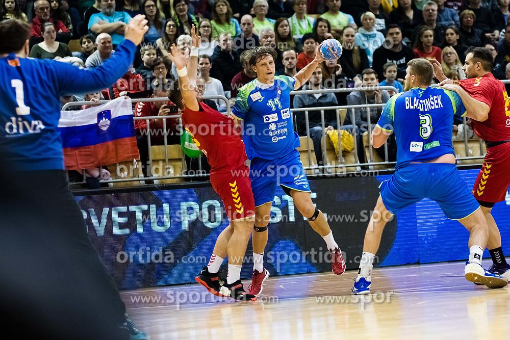 Dolenec Jure of Slovenia during friendly handball match between national teams Slovenia and Montenegro on 4th Januar, 2020, Trbovlje, Slovenia. Photo By Grega Valancic / Sportida