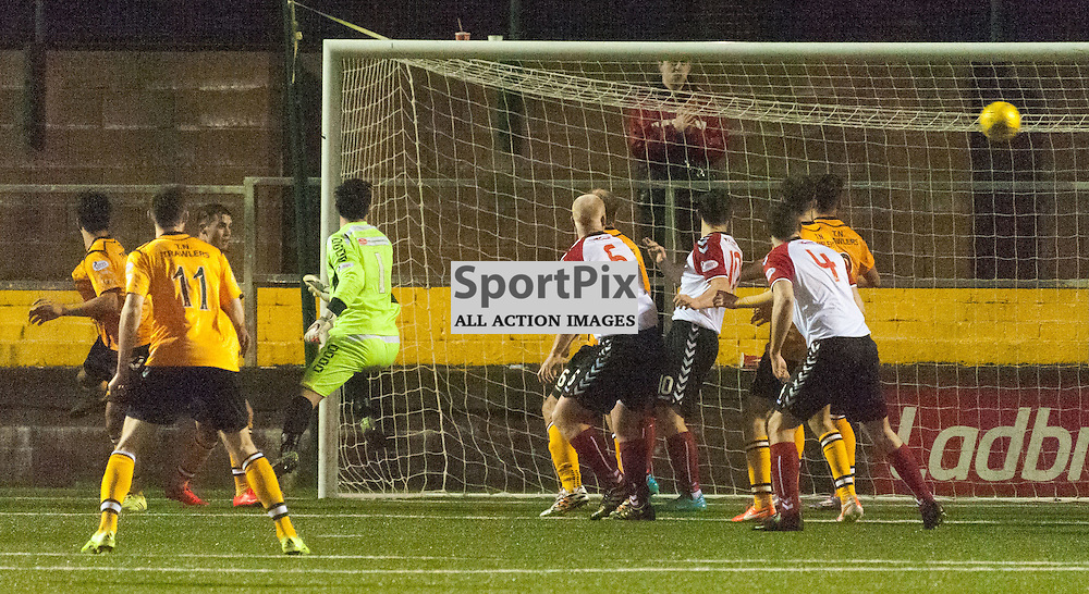 David Marsh (Clyde) scores for 1-3 ¥ Annan Athletic v Clyde ¥ Ladbrokes League 2 ¥ 26 December 2015 ¥ © Russel Hutcheson | SportPix.org.uk