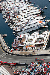 MONTE-CARLO, MONACO - Sunday, May 24, 2009: Lewis Hamilton (GBR McLaren) drives past the expensive yachts moored in the harbour during the Monaco Formula One Grand Prix at the Monte-Carlo Circuit. (Pic by Juergen Tap/Hoch Zwei/Propaganda)