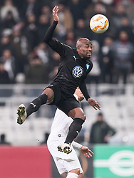 (L-R) Fouad Bachirou of Malmo FF, Adriano Correia Claro of Besiktas JK during the UEFA Europa League group I match between between Besiktas AS and Malmo FF at the Besiktas Park on December 13, 2018 in Istanbul, Turkey