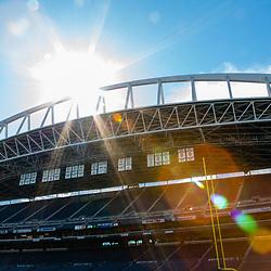 SEATTLE, WASHINGTON - SEPTEMBER 3: CenturyLink Field at Sunset in Seattle, WA. (Photo by Christopher Mast/Seattle Seahawks)