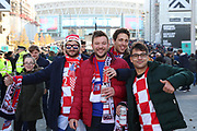 Croatia fans prior to kick off during the UEFA Nations League match between England and Croatia at Wembley Stadium, London, England on 18 November 2018.