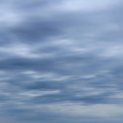 """""""Flowing Blue""""<br /> <br /> Pure lovely flowing blue clouds as they pass quickly above Lake Michigan!!<br /> If your a cloud lover, and a blue lover. Well you may just love this image!!<br /> <br /> Nature Abstracts by Rachel Cohen"""