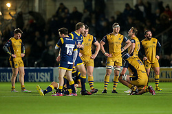 Nick Koster of Bristol Rugby looks dejected after Bristol Rugby lose 31-25 - Rogan Thomson/JMP - 04/11/2016 - RUGBY UNION - Sixways Stadium - Worcester, England - Worcester Warriors v Bristol Rugby - The Anglo Welsh Cup.