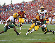 September 3, 2009: Iowa State running back Alexander Robinson (33) scores the first touchdown of the game on an 18 yard run during the first half of the Iowa State Cyclones' 34-17 win over the North Dakota State Bison at Jack Trice Stadium in Ames, Iowa on September 3, 2009.