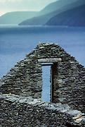 Dingle peninsula: Slea Head. Dunquin village, in the back Blasket Islands.