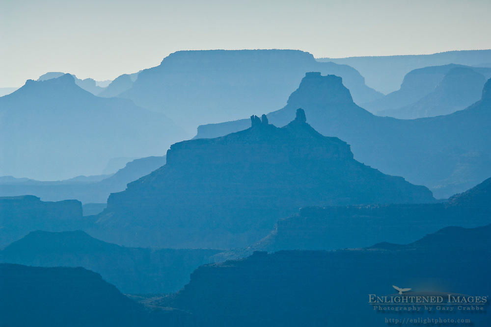 Grand Canyon on a hazy afternoon as seen from Lipan Point, South Rim, Grand Canyon National Park, Arizona