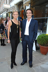 LADY ELOISE ANSON and the 6th EARL OF LICHFIELD at the launch of The Rupert Lund Showroom, 61 Chelsea Manor Street, London SW3 on 2nd May 2007.<br />