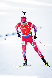 Tarjei Boe (NOR) competes during Men 12,5 km Pursuit at day 3 of IBU Biathlon World Cup 2015/16 Pokljuka, on December 19, 2015 in Rudno polje, Pokljuka, Slovenia. Photo by Ziga Zupan / Sportida