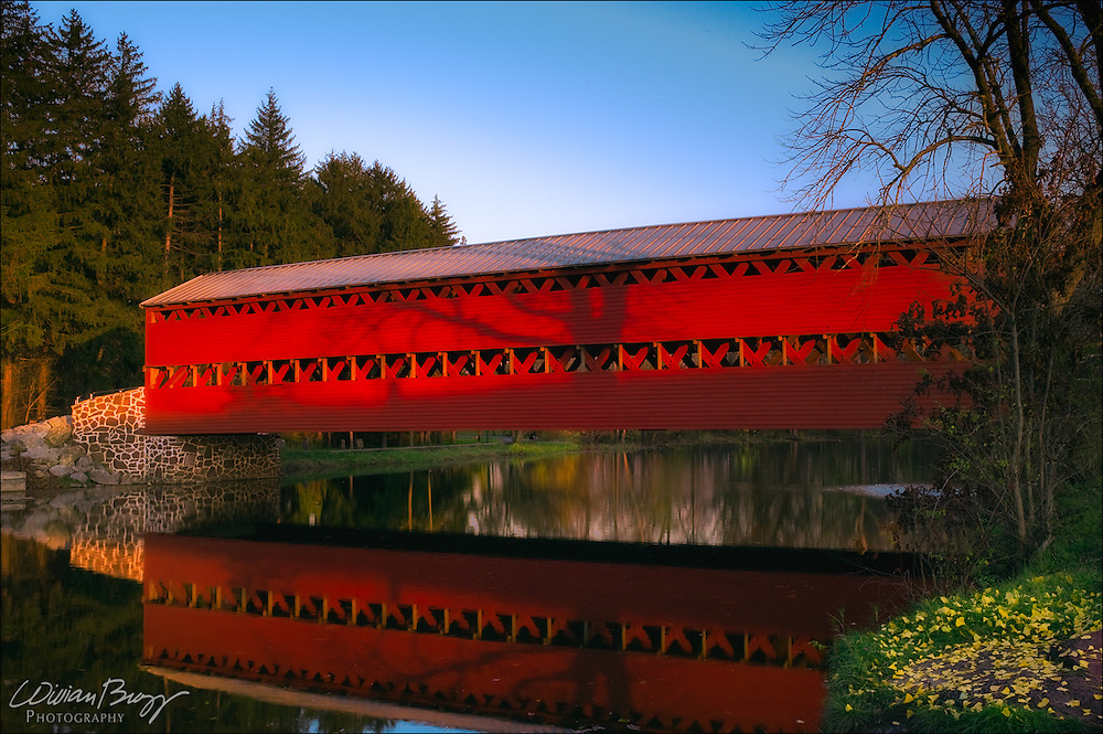 Sach's Covered Bridge in the Fall