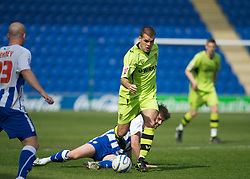 COLCHESTER, ENGLAND - Saturday, April 24, 2010: Tranmere Rovers' John Welsh on the attack during the Football League One match at the Western Community Stadium. (Photo by Gareth Davies/Propaganda)