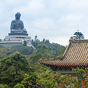 Tian Tan Buddha and Po Lin Monastery at Ngong Ping, Lantau Island