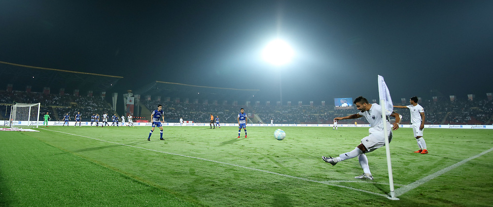 during match 19 of the Hero Indian Super League between NorthEast United FC and Bengaluru FC held at the Indira Gandhi Athletic Stadium, Guwahati India on the 8th December 2017<br /> <br /> Photo by: Saikat Das  / ISL / SPORTZPICS