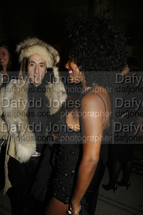 Philip Sallon and Sandy Lamb, Russian Fashion Forum launch party. Victoria & Albert Museum. April 21 2006 ONE TIME USE ONLY - DO NOT ARCHIVE  © Copyright Photograph by Dafydd Jones 66 Stockwell Park Rd. London SW9 0DA Tel 020 7733 0108 www.dafjones.com