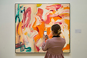 UNITED KINGDOM, London: 09 April 2018 'Untitled VI' 1980 by Willem de Kooning estimated at $8-12 Million at the Impressionist and Modern and Contemporary Art preview at Sotheby's. The Impressionist and Modern art sale will be held in New York on 14th May. Sotheby's Impressionist and Modern Art Sale, London, UK- 9 Apr 2018 Rick Findler / Story Picture Agency