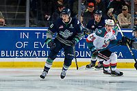 KELOWNA, BC - JANUARY 30: Noah Philp #16 of the Seattle Thunderbirds skates against the Kelowna Rockets at Prospera Place on January 30, 2019 in Kelowna, Canada. (Photo by Marissa Baecker/Getty Images)