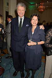 WILLIAM & OLGA SHAWCROSS at a party to celebrate the publication of The Romanovs 1613-1918 by Simon Sebag-Montefiore held at The Mandarin Oriental, 66 Knightsbridge, London on 2nd February 2016.