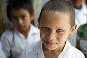 Portrait of a boy at the primary school in the town of Coyolito, Honduras on Wednesday April 24, 2013.
