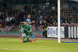 October 21, 2017 - Napoli, Napoli, Italy - Naples - Italy 21/10/2017.LORENZO INSIGNE of  S.S.C. NAPOLI   and SAMIR HANDANOVIC  of  Inter  fights for the ball during Serie A  match between S.S.C. NAPOLI and Inter  at Stadio San Paolo of Naples. (Credit Image: © Emanuele Sessa/Pacific Press via ZUMA Wire)