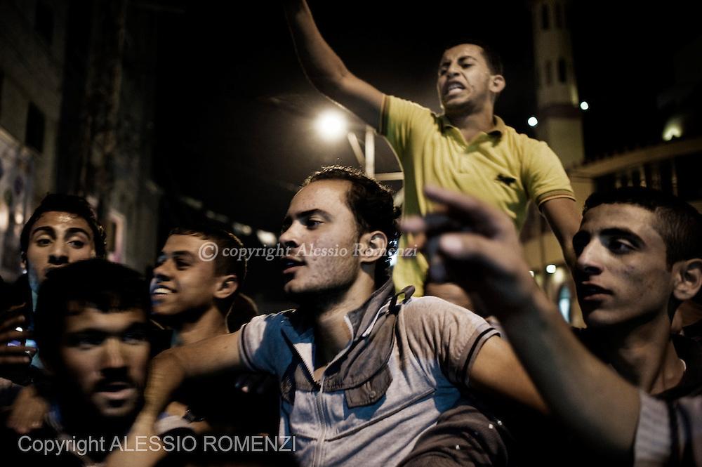 Gaza City: Palestinians celebrate a cease-fire agreement between Israel and Gaza in Gaza City, November 21, 2012. ALESSIO ROMENZI