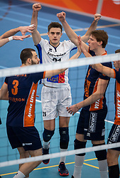 20-01-2019 NED: Talent Team Papendal - Achterhoek Orion, Ede<br /> Round 14 of Eredivisie volleyball. Orion win 3-01 of Talent Team / Rob Jorna #21 of Orion
