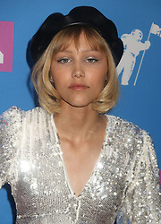 August 20, 2018 - New York City, New York, U.S. - Singer GRACE VANDERWAAL attends the arrivals for the 2018 MTV 'VMAS' held at Radio City Music Hall. (Credit Image: © Nancy Kaszerman via ZUMA Wire)