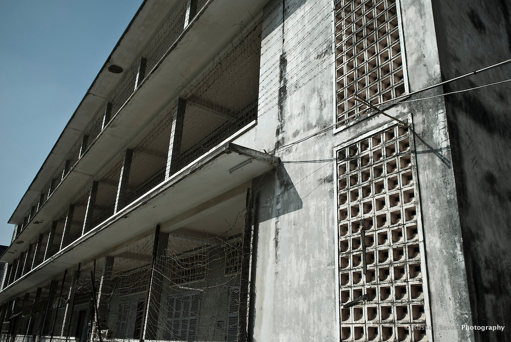 Exterior of Building C in Tuol Sleng Genocide Museum in Phnom Penh, Cambodia