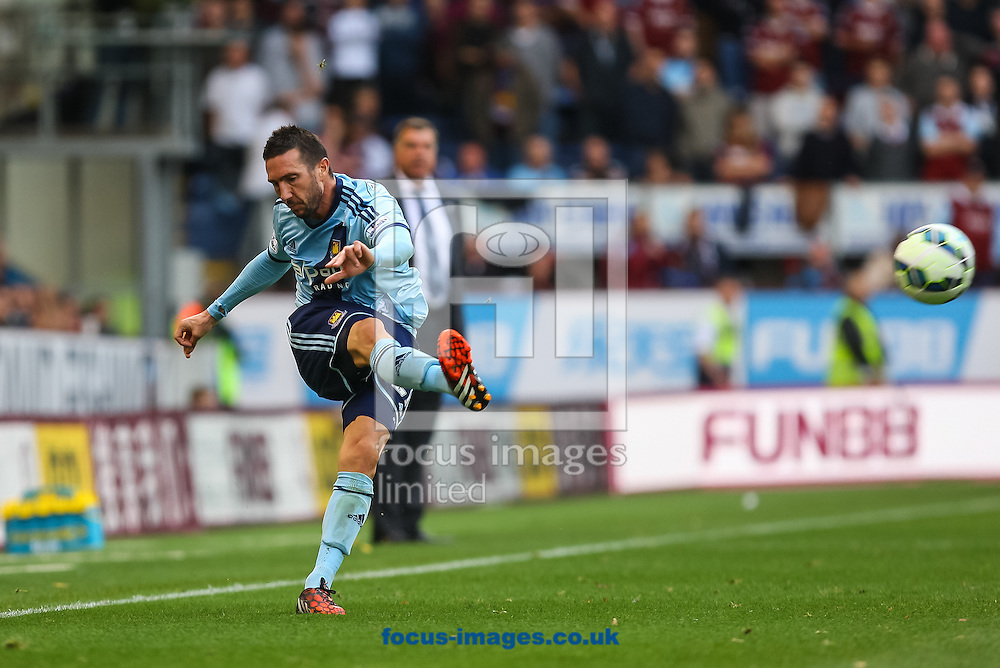 Morgan Amalfitano of West Ham United plays a pass during the Barclays Premier League match at Turf Moor, Burnley<br /> Picture by Daniel Chesterton/Focus Images Ltd +44 7966 018899<br /> 18/10/2014