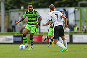Forest Green Rovers Keanu Marsh-Brown (7) on the ball during the Vanarama National League match between Forest Green Rovers and Bromley FC at the New Lawn, Forest Green, United Kingdom on 17 September 2016. Photo by Shane Healey.