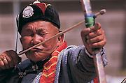 Master archer<br /> Naadam festival<br /> Ulaanbaatar race track<br /> Mongolia