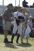 Michael Owers, Tristram Owers and Constanza Villani, The Land Rover Burghley Horse Trials. 4 September. ONE TIME USE ONLY - DO NOT ARCHIVE  © Copyright Photograph by Dafydd Jones 66 Stockwell Park Rd. London SW9 0DA Tel 020 7733 0108 www.dafjones.com