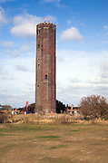 Great Naze, Trinity tower, Walton on the Naze, Essex, England. Trinity House built the 86ft octagonal Naze Tower in 1720 as a navigational mark to aid shipping.