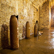 Artillery shell casings inside the Douaumont Fort.
